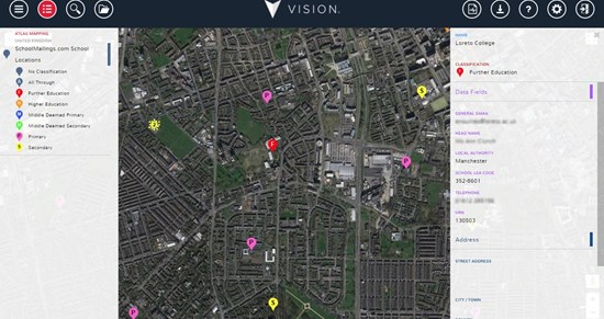 SchoolMailings.com UK School Location data now available in Vision
